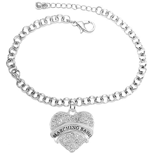 "the perfect gift "" marching band "" hypoallergenic adjustable bracelet, safe - nickel & lead free"