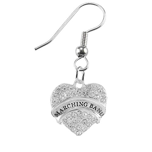 """the perfect gift """" marching band """" hypoallergenic earring, safe - nickel & lead free"""