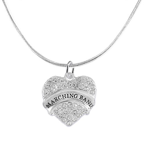 "the perfect gift "" marching band "" adjustable hypoallergenic necklace, safe - nickel & lead free"