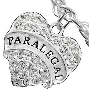Paralegal Heart Charm Bracelet ©2016 Hypoallergenic, Safe, Nickel, Lead & Cadmium Free!