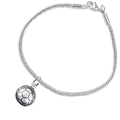 """the perfect gift """"soccer jewelry""""  ©2016 hypoallergenic bracelet, safe - nickel & lead free"""