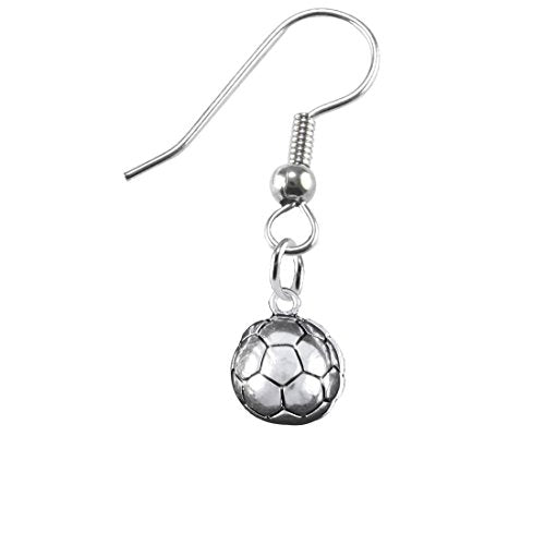 """the perfect gift """" soccer jewelry earring""""  ©2016 hypoallergenic earring, safe - nickel & lead free"""