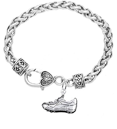"the perfect gift "" soccer jewelry shoe"" bracelet  ©2016 hypoallergenic, safe - nickel & lead free"
