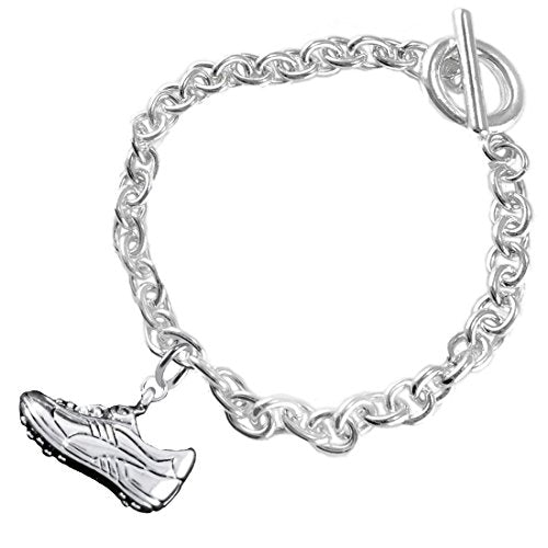 """the perfect gift """" soccer shoe jewelry"""" bracelet  ©2016 hypoallergenic, safe - nickel & lead free"""