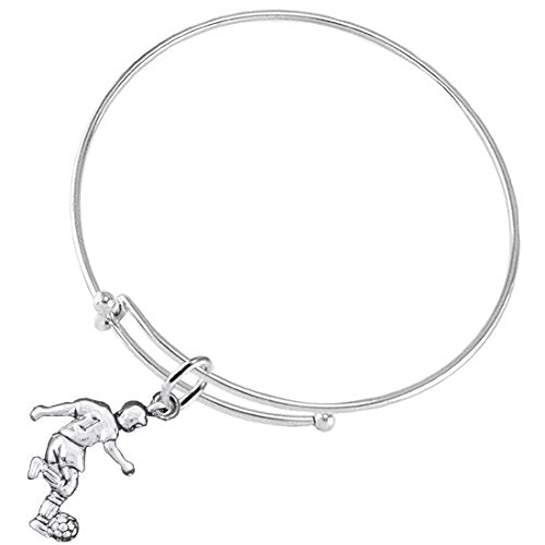 """the perfect gift """" soccer player jewelry"""" bracelet  ©2016 hypoallergenic, safe - nickel & lead free"""