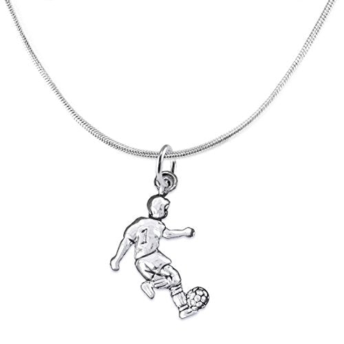 """the perfect gift """"soccer player jewelry"""" adjustable necklace  ©2016 safe - nickel & lead free"""