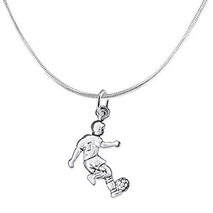 "The Perfect Gift ""Soccer Player Jewelry"" Adjustable Necklace ©2016 Safe - Nickel & Lead Free"