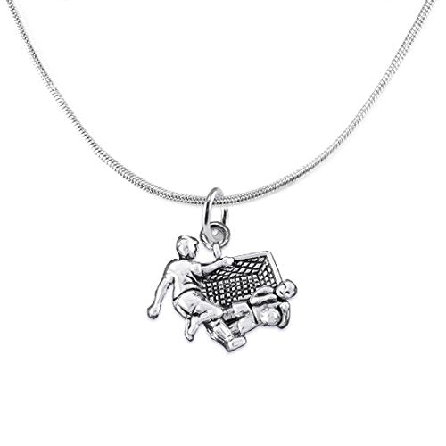 """the perfect gift """"soccer goalie jewelry"""" adjustable necklace  ©2016 safe - nickel & lead free"""