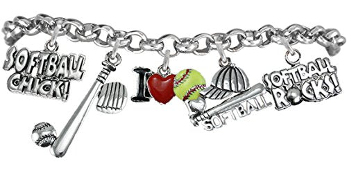 girls softball bracelet  ©2012 hypoallergenic safe nickel & lead free. from child to adult