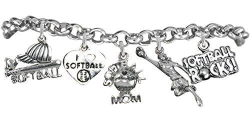 softball bracelet  ©2012 hypoallergenic safe nickel, lead & free from child to adult
