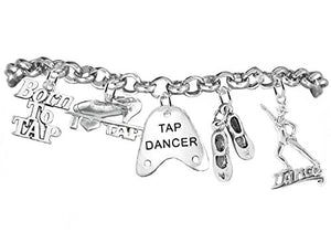 Tap Dance Jewelry 5 Charm Bracelet ©2012, Safe -Adjustable, Nickel & Lead Free