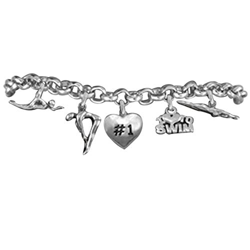 swimming 5 charm bracelet, 2012  © adjustable hypoallergenic