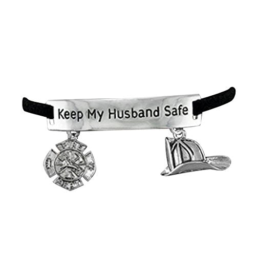 "firefighter's ""keep my husband safe"" adjustable hypoallergenic"" safe - nickel, lead & cadmium free!"