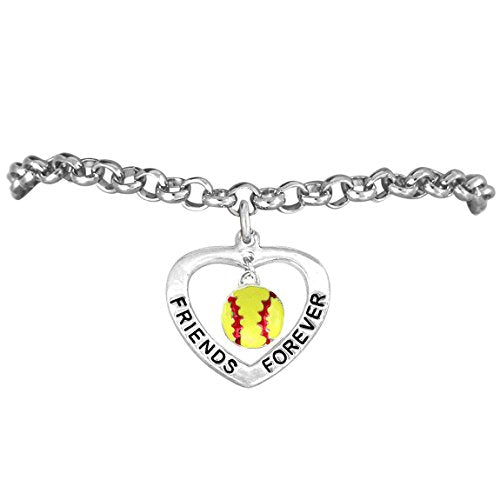 "the perfect gift ""softball friends forever"" adjustable bracelet  ©2012 - safe - nickel & lead free"