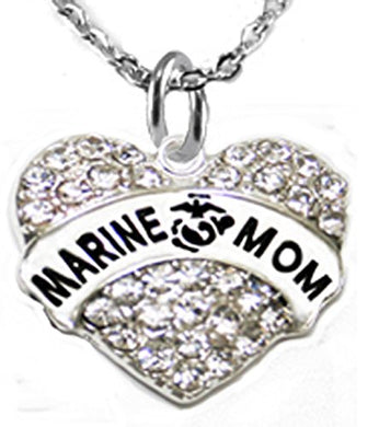 The Perfect Gift Marine Mom Hypoallergenic Necklace, Safe - Nickel, Lead & Cadmium Free