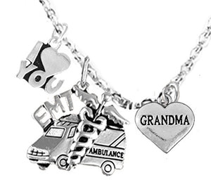 EMT, Grandma Adjustable Necklace, Hypoallergenic, Safe - Nickel & Lead Free