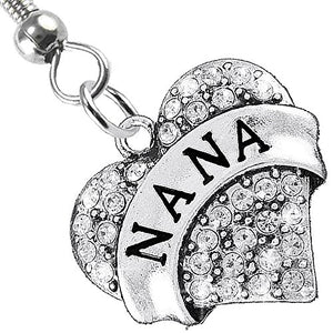 Nana Charm Fishhook Earrings ©2015 Hypoallergenic, Safe - Nickel, Lead & Cadmium Free!