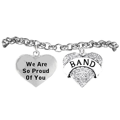 "the perfect gift ""band"" ""we are so proud of you"" adjustable bracelet, safe - nickel & lead free"