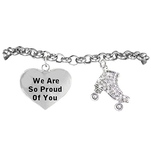 "roller skates ""we are so proud of you"", adjustable, nickel & lead free! fits everyone."