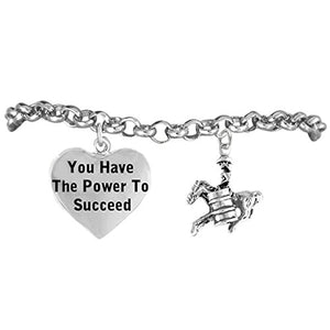 "Barrel Racer ""You Have the Power to Succeed"" Adjustable, Hypoallergenic. Nickel & Lead Free"