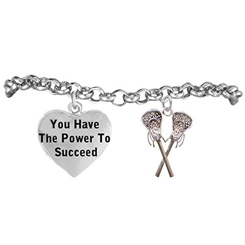 "lacrosse ""you have the power to succeed"" adjustable bracelet, safe - nickel, lead & cadmium free"