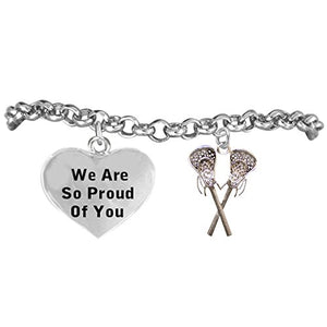 "Lacrosse ""We Are So Proud of You"" Adjustable Bracelet, Safe - Nickel, Lead & Cadmium Free"