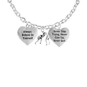 "Men's Necklace ""Wrestling"", Never Stop Trying, Never Quit"" Hypoallergenic"
