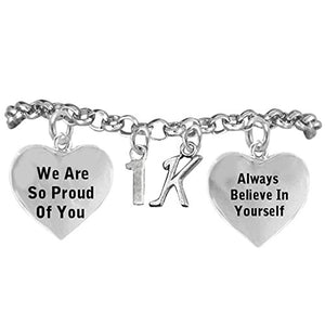 "1 K Runner Hypoallergenic ""Always Believe in Yourself"" Bracelet, Safe - Nickel, Lead & Cadmium Free!"