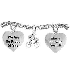 "Bicycle Hypoallergenic ""Always Believe in Yourself"" Bracelet, Safe - Nickel, Lead & Cadmium Free!"