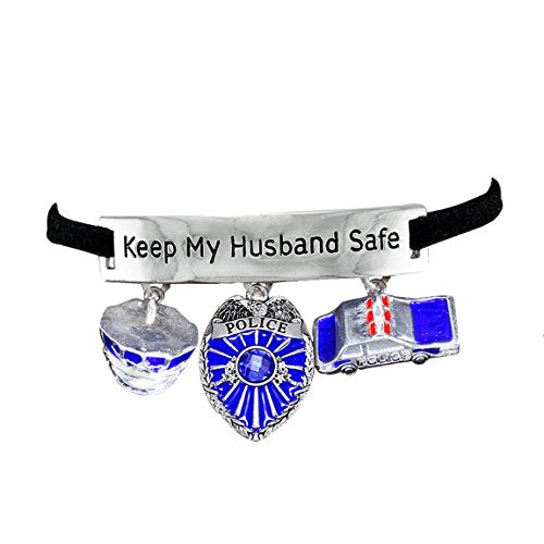 policeman's wife hypoallergenic adjustable bracelet. nickel and lead free