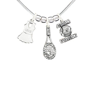 "Gorgeous "" Tennis "" Hypoallergenic Adjustable Necklace. Nickel and Lead Free"
