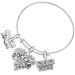 "Soccer Rocks ""Soccer Chick"" Adjustable Bracelet, Safe - Hypoallergenic, Nickel, Lead & Cadmium Free!"