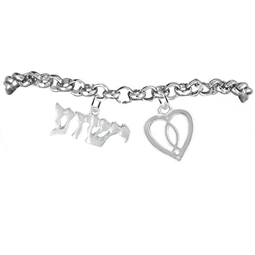 yeshua (jesus in hebrew) named by an angel of god, with a heart & jesus fish bracelet