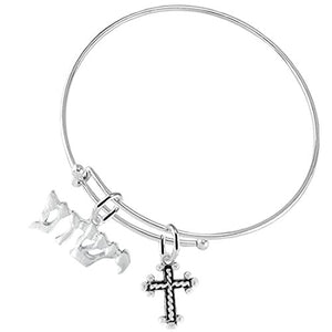 Yeshua (Jesus in Hebrew) Named by An Angel of God, With A Cable Cross-Adjustable Bracelet