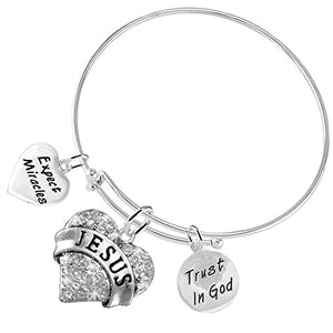 Christian 3 Charm Adjustable Bracelet Hypoallergenic, Safe - Nickel & Lead Free