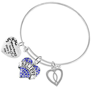 "Where There Is Love There Is Life ""Believe"" ©2016 3 Charm Adjustable  - Nickel & Lead Free"