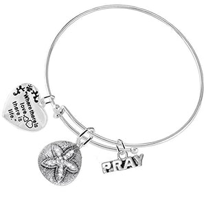 The Legend of The Sand Dollar Christian, 3 Charm Adjustable Hypoallergenic - Nickel & Lead Free