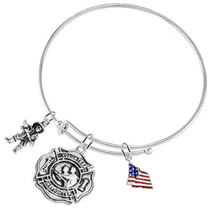 Volunteer Firefighter's, Adjustable Bracelet, Safe - Nickel & Lead Free!