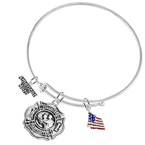 Volunteer Firefighter's American Hero, Adjustable Bracelet, Safe - Nickel & Lead Free!