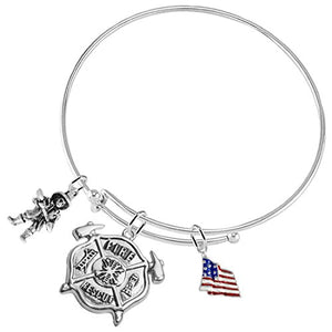 Fire Rescue Firefighter, Adjustable Bracelet, Safe - Nickel & Lead Free!