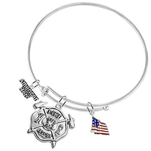"Fire Rescue ""American Hero"", Firefighter, Adjustable Hypoallergenic, Safe - Nickel Free"