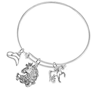 Stallion 3 Charm Adjustable Bracelet, Safe - Nickel & Lead Free