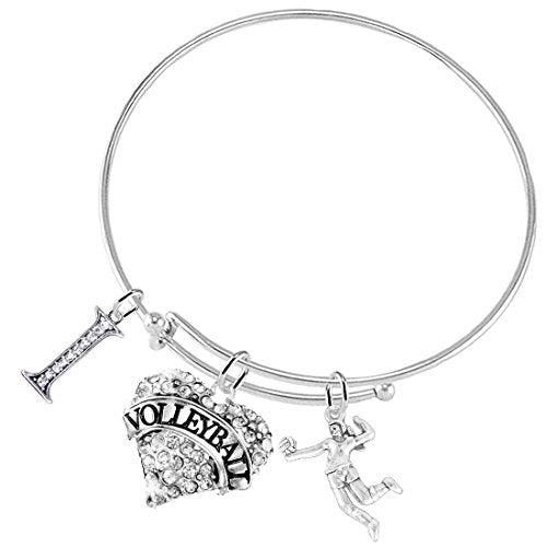 I Love(Heart)Volleyball Adjustable Bracelet, Safe - Hypoallergenic, Nickel, Lead & Cadmium Free