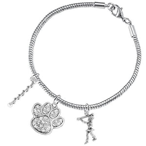 "The Perfect Gift ""Majorette Jewelry"" Paw Crystal Hypoallergenic Safe - Nickel & Lead Free"