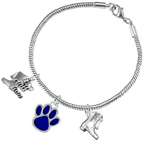 "The Perfect Gift ""Drill Team Jewelry"" Blue Paw ©2015 Hypoallergenic Safe - Nickel & Lead Free"