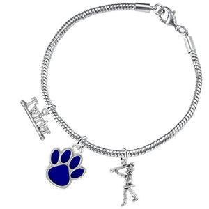 "The Perfect Gift "" Majorette Jewelry "" Blue Paw Hypoallergenic Adjustable, Safe - Nickel & Lead Free"