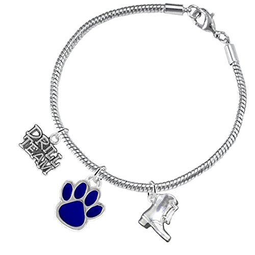 """the perfect gift """"drill team jewelry"""" blue paw  ©2015 hypoallergenic safe - nickel & lead free"""