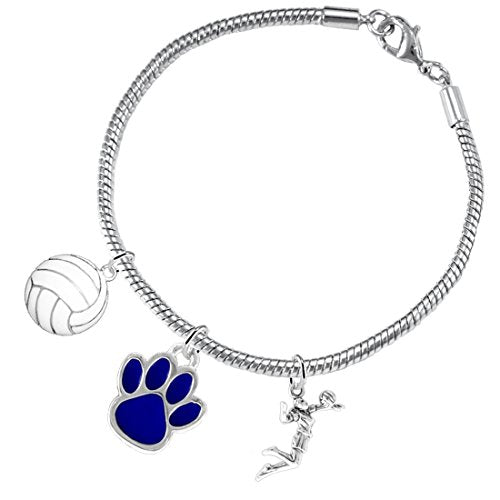 Blue Paw Volleyball, ©2016 Adjustable, Safe - Hypoallergenic, Nickel, Lead & Cadmium Free
