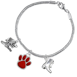"The Perfect Gift ""Drill Team Jewelry"" Red Paw ©2015 Hypoallergenic Safe - Nickel & Lead Free"