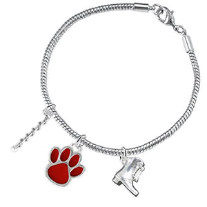 "The Perfect Gift ""Majorette Jewelry"" Red Paw ©2015 Hypoallergenic Safe - Nickel & Lead Free"